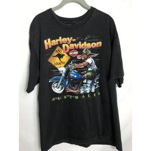 1992 Australia Harley Davidson T-shirt kangaroo
